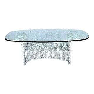 Lloyd Loom Flanders Wicker Weather Resistant Coffee Table For Sale