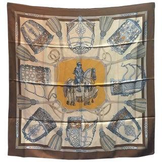 Hermes Vintage Les Muserolles Silk Scarf, Circa 1986 For Sale