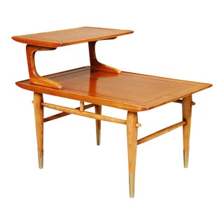 "Mid Century Two Tiers End Table Design by ""Lane"" For Sale"