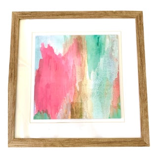 Vintage Abstract Watercolor Painting For Sale