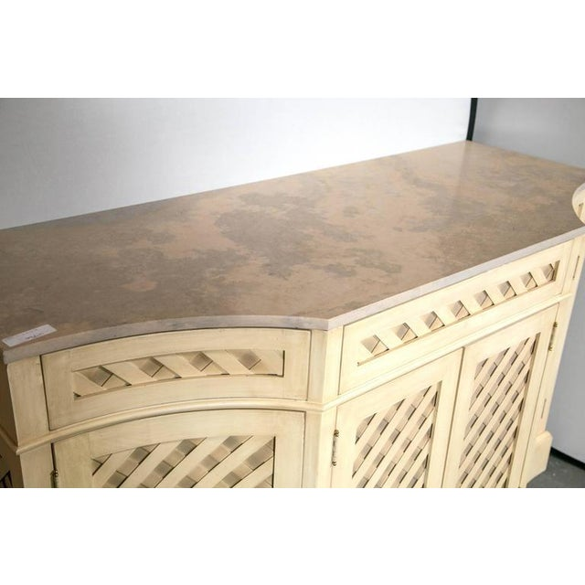 Marble-Top Checkerboard Sideboard For Sale In New York - Image 6 of 9