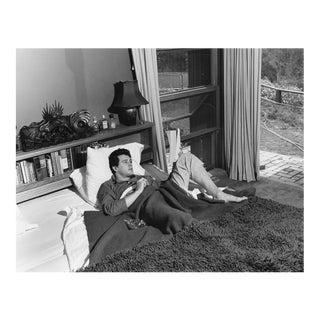 Rock Hudson at his North Hollywood home 1952