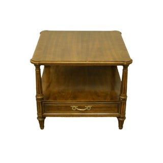"""20th Century Henredon Furniture Italian Provincial 26"""" Square Accent End Table Preview"""
