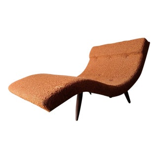 Mid Century Wave chaise lounge by Adrian Pearsall , Original Fabric 1960s