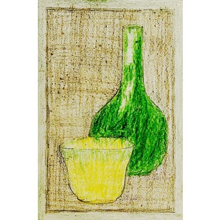 Still Life Crayon Study For Sale