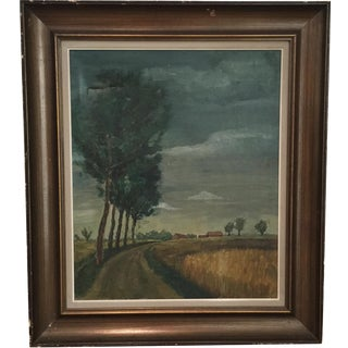 Country Road Painting by Rene Barbaix For Sale