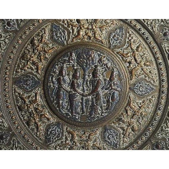 19th Century Tanjore Brass Plaque #1, South India For Sale In San Francisco - Image 6 of 10