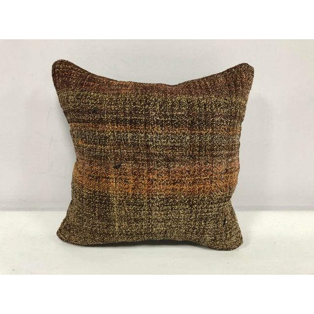 Turkish Anatolian Ethnic Decorative Traditional Kilim Cushion Cover For Sale In Phoenix - Image 6 of 6
