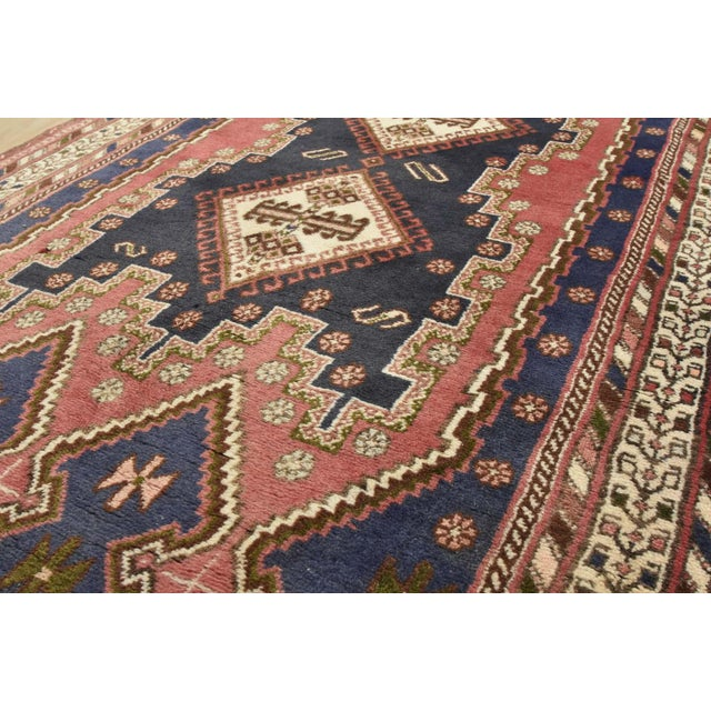 1980s Persian Afshar Runner - 3'5'' X 9'3'' For Sale - Image 5 of 13