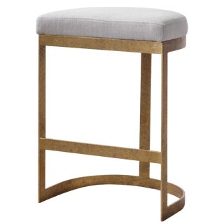 Modern Brass Counter Stool For Sale