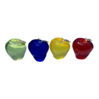 Acrylic Apple Collection - 4 Pieces For Sale