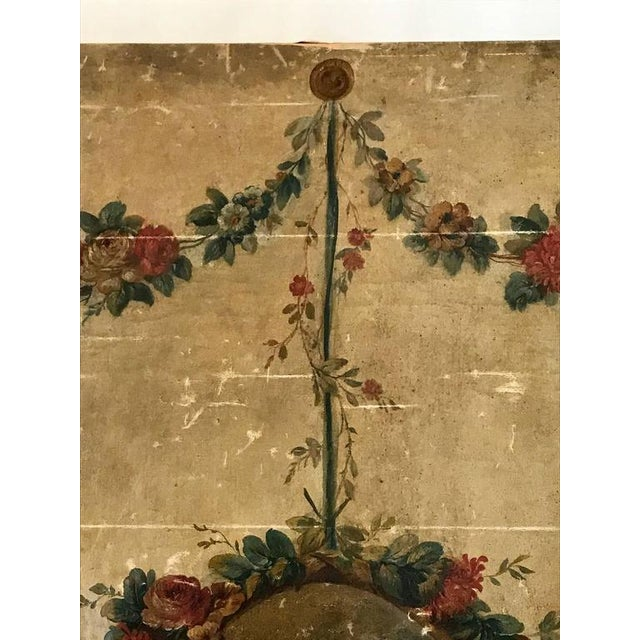 Large 18th Century French Oil on Canvas Wall Panel For Sale - Image 4 of 7