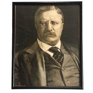 Vintage Theodore Roosevelt Framed Portrait For Sale