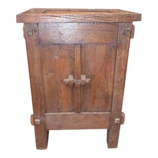 Vintage Indian Teak Cabinet For Sale