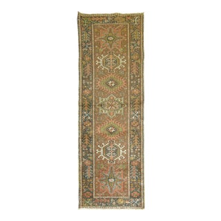 Antique Heriz Runner, 1'10'' X 5'5'' For Sale