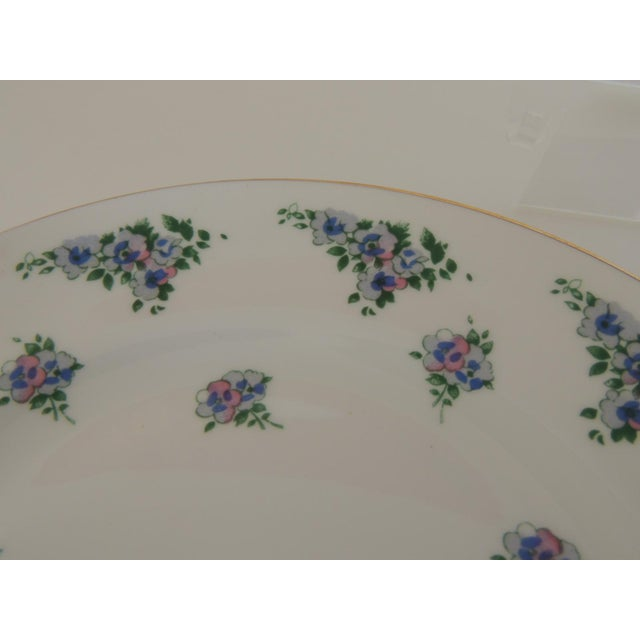 English Royal Victoria English White and Green Bone China Dessert Plate For Sale - Image 3 of 6