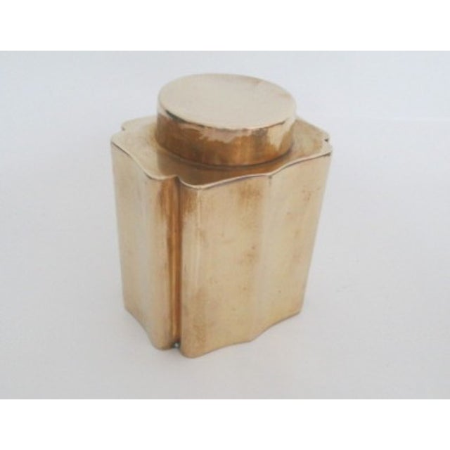 Antique Brass Canister - Image 3 of 9