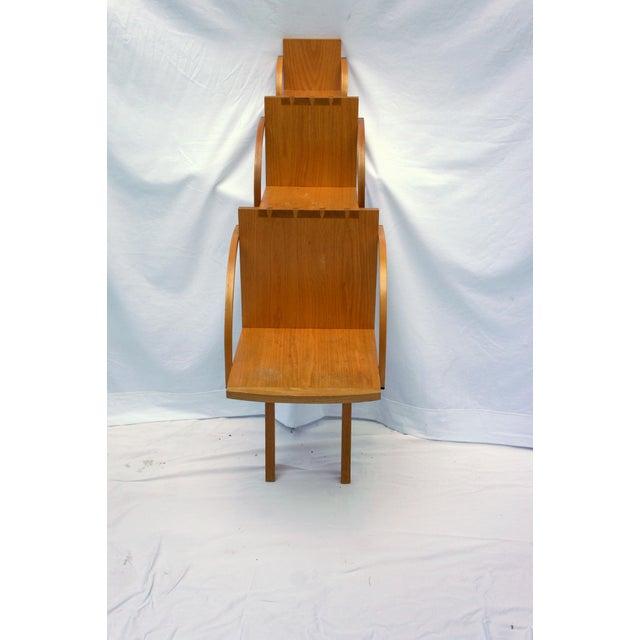 1970s 1970s Vintage Handmade Step Leaning Shelf For Sale - Image 5 of 12