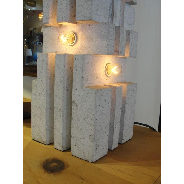 "Mangiarotti Marble Lamp ""Table or Floor"" - Image 3 of 5"