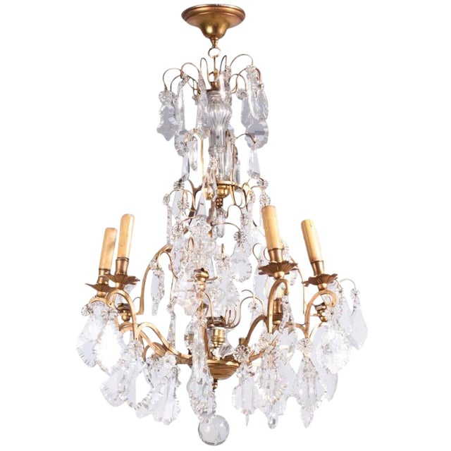 19th Century French Napoleon III Crystal Chandelier For Sale