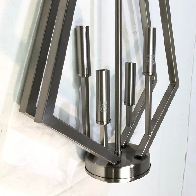 Contemporary Capital Lighting Baxley 4-Light Brushed Nickel Mini Chandelier For Sale - Image 3 of 9
