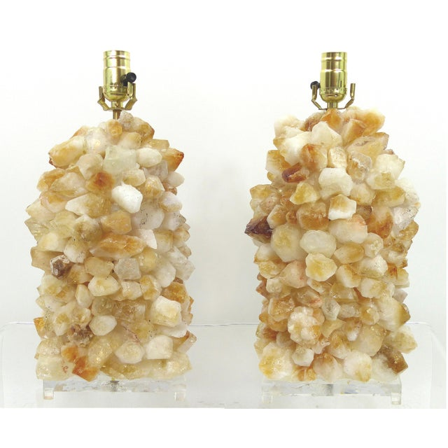 Quartz Rock Crystal Lamps - A Pair - Image 2 of 10