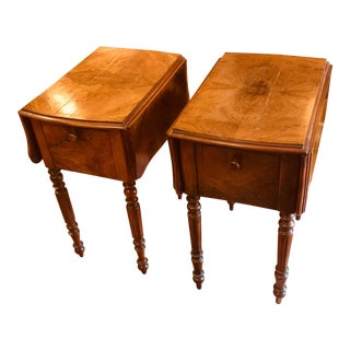 Early 19th Centuy French Country Louis Philippe Walnut Chevets - a Pair For Sale