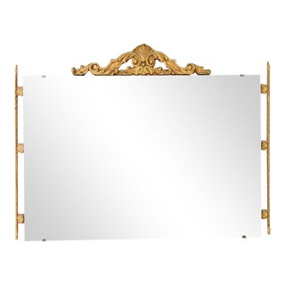 Shell & Acathus Leaf Giltwood Mirror For Sale