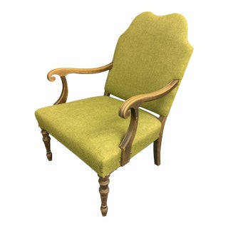 Antique Camel Back Arm Chair For Sale
