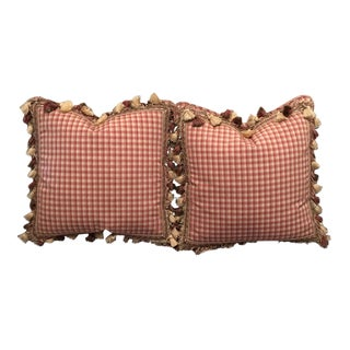 Custom Brunshwig & Fils Down Filled Accent Pillows - A Pair For Sale