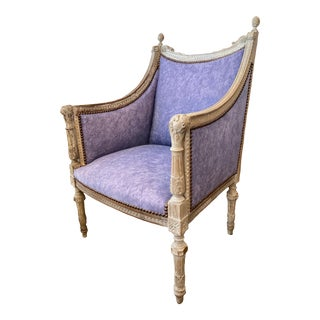 Napoleon III French Bergère Chair For Sale