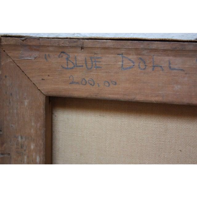 Karnig Nalbandian 'Blue Doll' Oil on Canvas, 1953 For Sale - Image 9 of 11