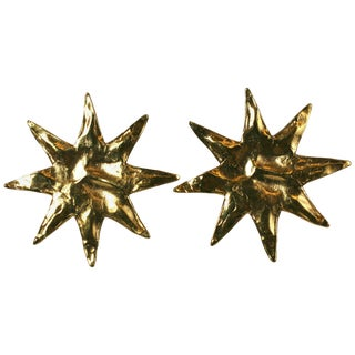 Yves Saint Laurent Starburst Earclips For Sale