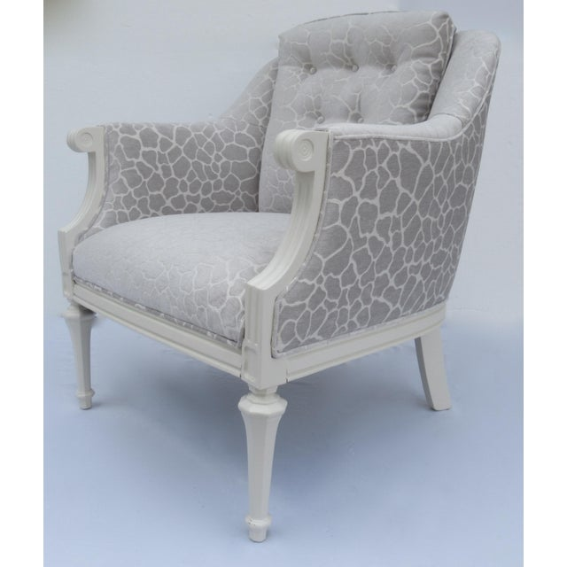 Final Markdown -Dorothy Draper Hollywood Regency Club Chair With Giraffe Chenille For Sale - Image 13 of 13