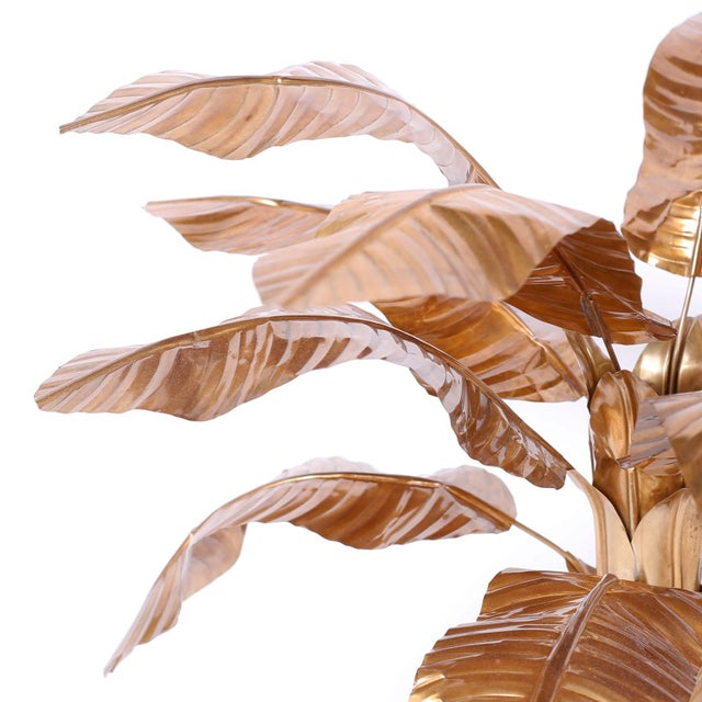 Mid-Century Modern Midcentury Brass Palm Tree Sculpture For Sale - Image 3 of 8
