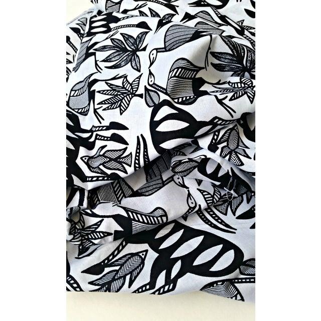 Black & White African Print Fabric - 1 Yard - Image 4 of 6