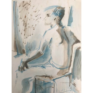 1950s Mid Century Modern Female Figure Study by Robert Colborne For Sale