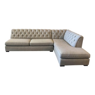 Mitchell-Gold Tufted 2-Pc. Sectional Sofa For Sale
