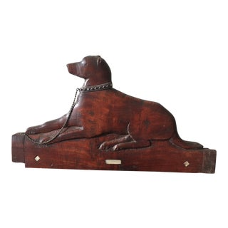 Antique Wooden Dog Wall Hanging For Sale