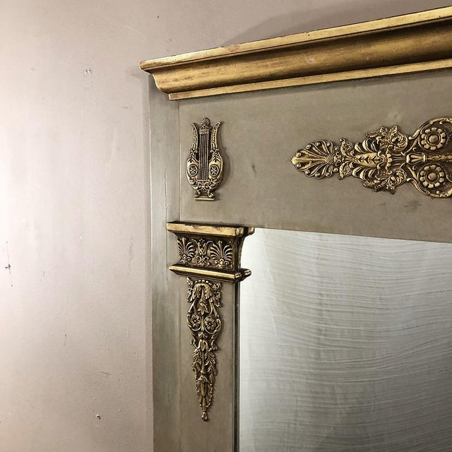 Wood 19th Century French Empire Painted Mirror For Sale - Image 7 of 13