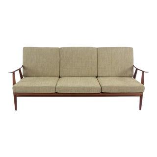 Scandinavian Modern Solid Teak Sofa Designed by Hans Wegner For Sale