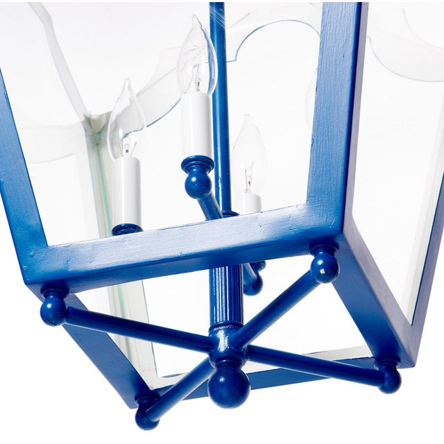Blue Contemporary French Style Lantern For Sale - Image 8 of 9