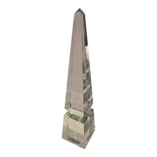 1980s Vintage French Baccarat Crystal Obelisk For Sale