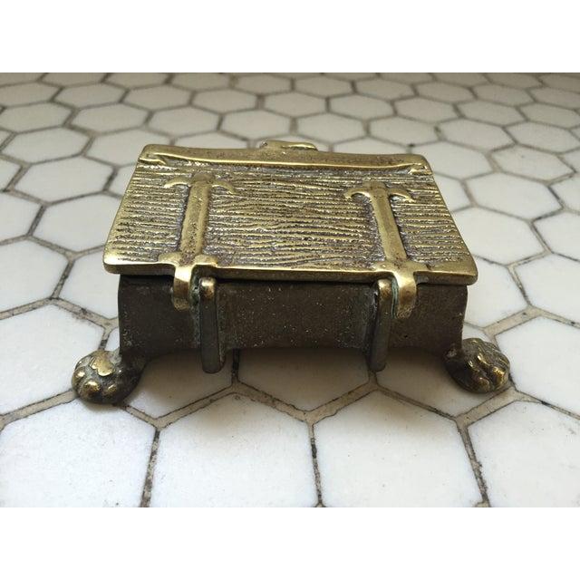 Mid-Century Brass Treasure Chest - Image 5 of 6