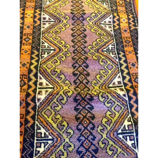 Semi Antique Turkish Anatolian Rug - 1′10″ × 3′4″ - Image 3 of 6