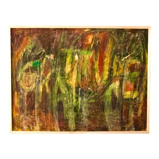 """Gratitude"" by Ellen Reinkraut Original Abstract Expressionist Painting, Framed For Sale"