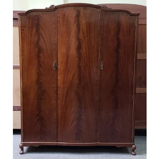 Flame Mahogany Triple Door Armoire C.1940s Preview