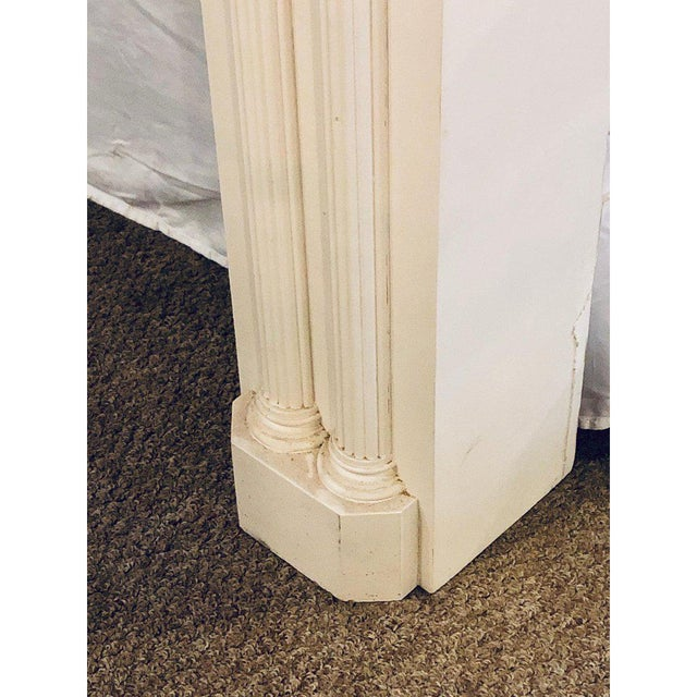 Neoclassical Monumental Hand Carved Fire Place Surrounds - a Pair For Sale - Image 12 of 13