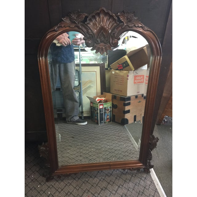 1980s 1980s Carved Mahogany Mirror For Sale - Image 5 of 9