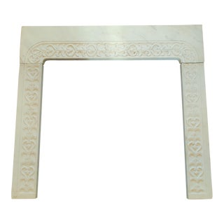 Early 20th Century Marble Fireplace Mantel For Sale